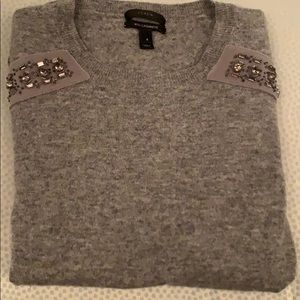J Crew Embellished Sweater with Cashmere